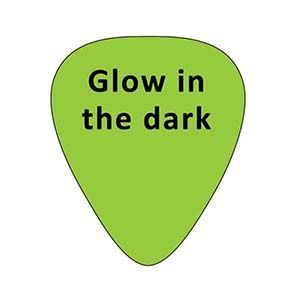 Glow in the dark guitar picks - Custom