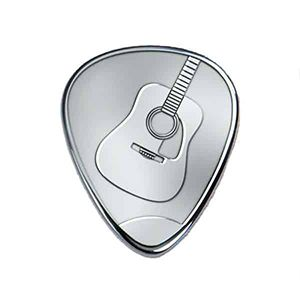 Own Guitar Picks - Engraved Silver Guitar Pick