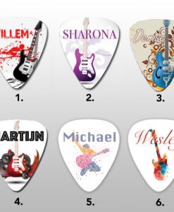 Guitar Picks wit your own name - Own Guitar Picks
