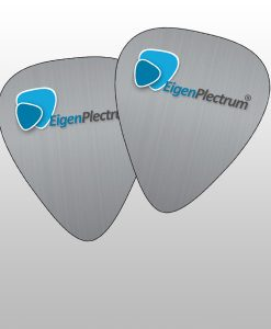 Metal guitar picks with print