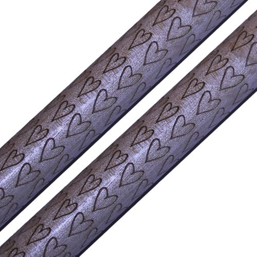 Engraved Drumsticks - Hearts