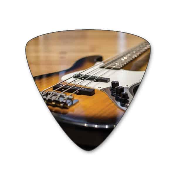 bass guitar picks one side own guitar picks create them online. Black Bedroom Furniture Sets. Home Design Ideas