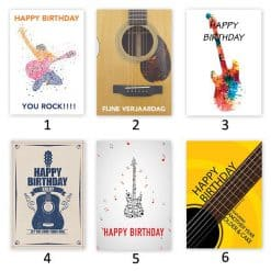 Own Guitar Picks - Birthday card with custom pick