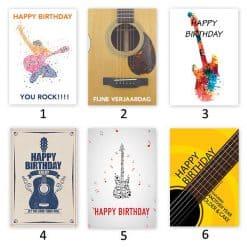 Own Guitar Picks - Birthday card with custom pick