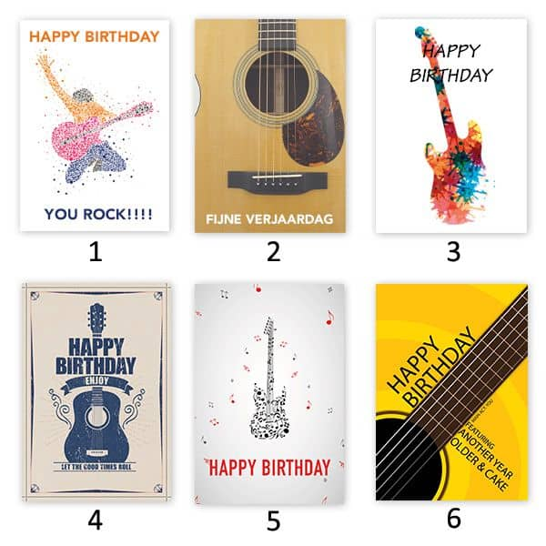 Birthday Card With Custom Guitar Pick