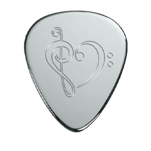Silver Pick - Music Heart