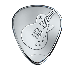 Silver Pick - Les Paul